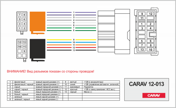 Переходник ISO CARAV Kia, Hyundai (12-013)