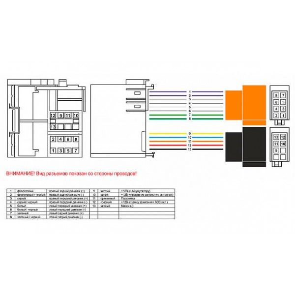 Разъем для штатной магнитолы Chevrolet, Opel AWM 160-244